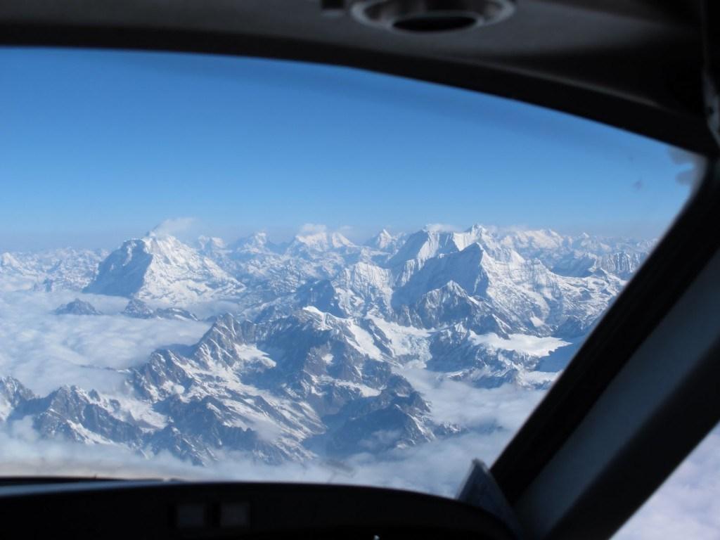 Flying over Everest 1