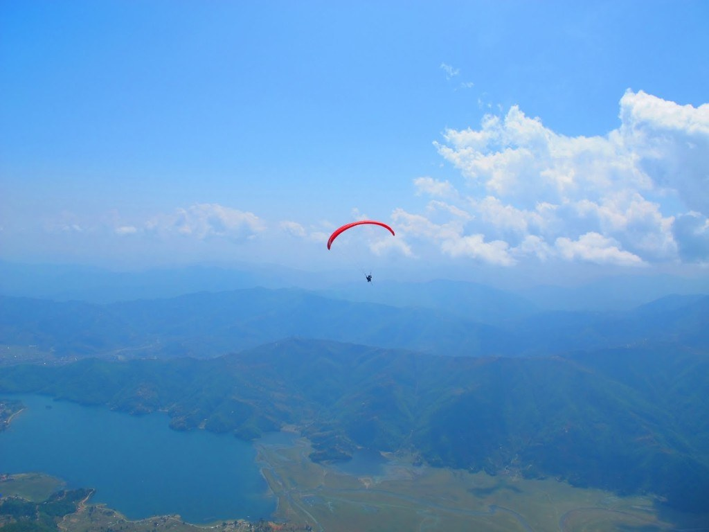 Paragliding in Pokhara 10