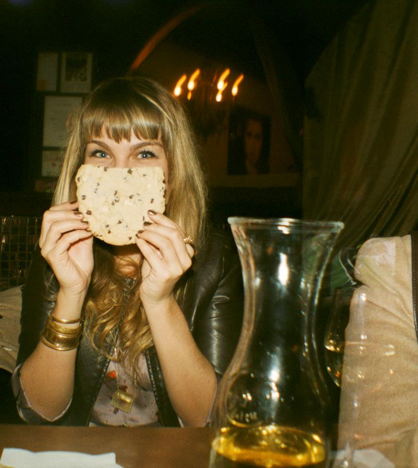 Brenna with cookie