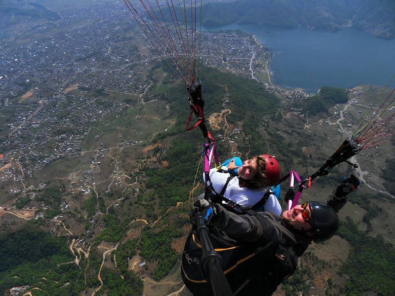 Brenna paragliding in Nepal