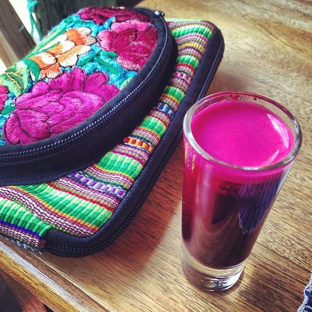 Ginger juice in Guatemala