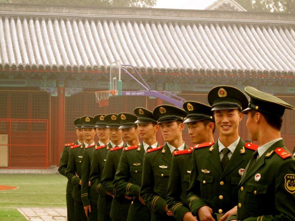 Soldiers in Beijing