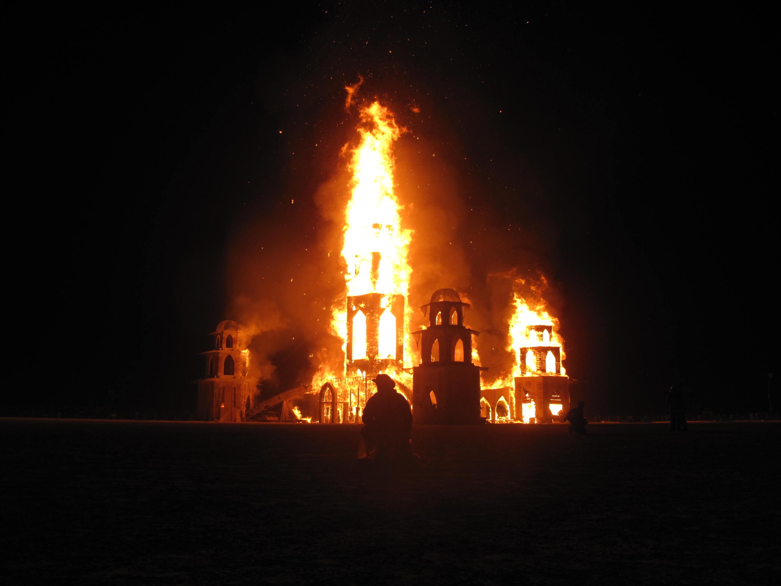 Burning Man Temple Burn