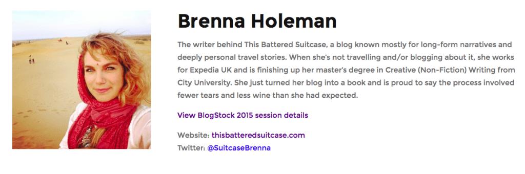 Brenna Holeman blogstock