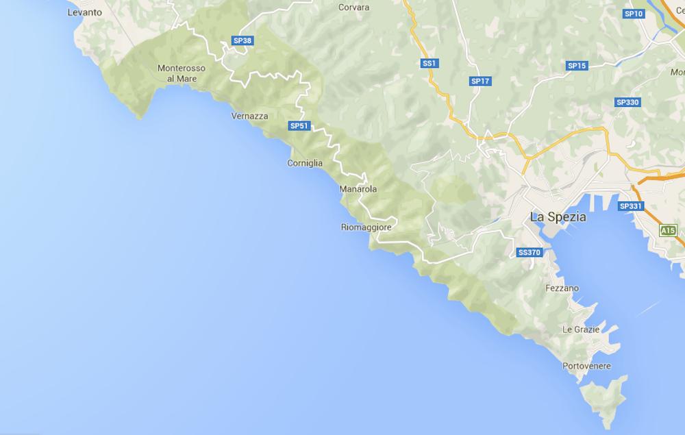 Map of cinque terre 1