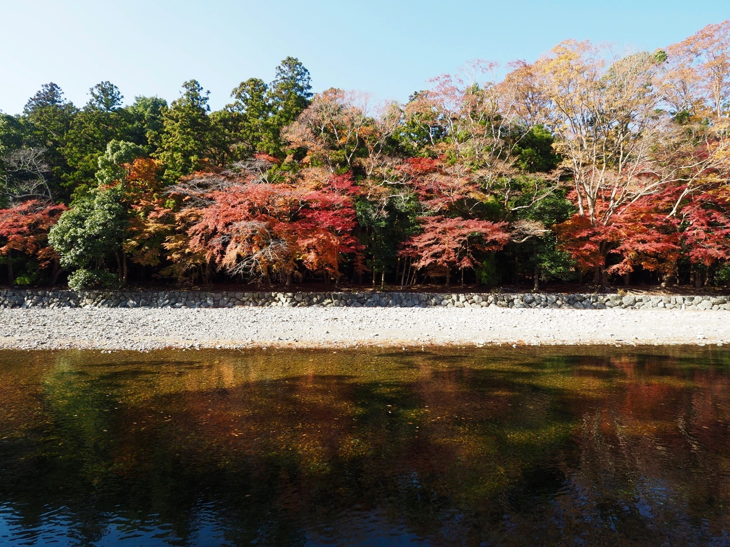 autumn colours in Ise Japan
