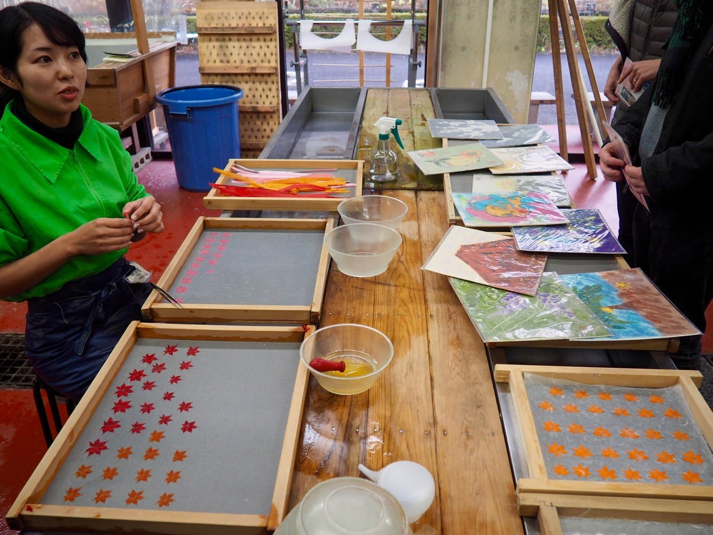 making paper in Japan