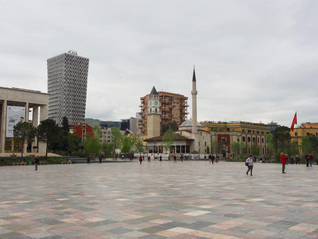 skanderberg square tirana albania