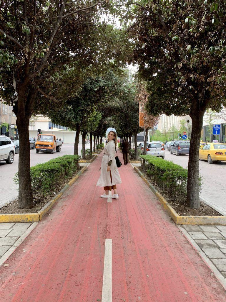 Walking around Tirana Albania