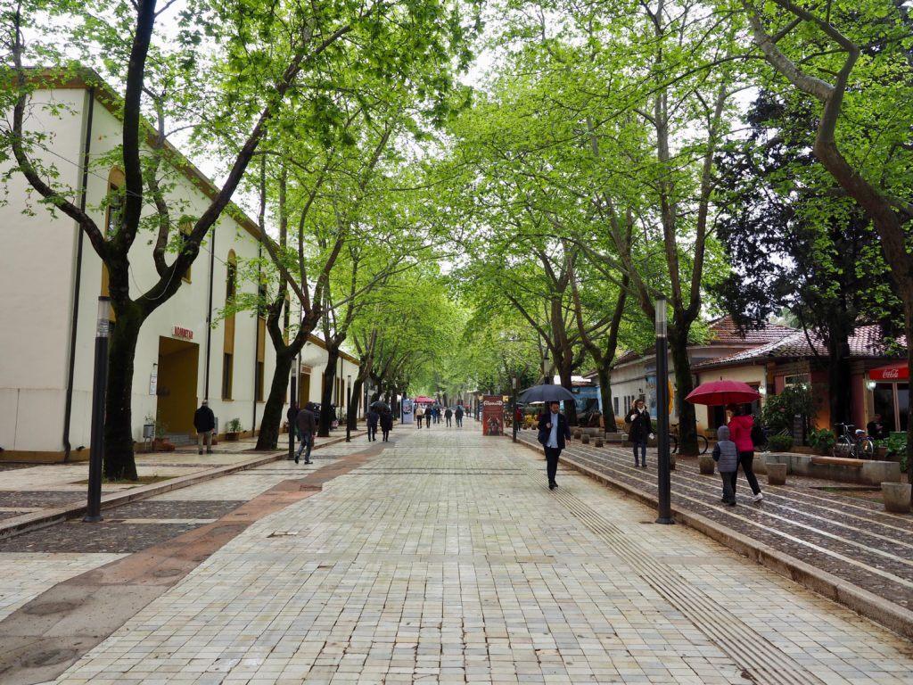 pedestrian street in tirana