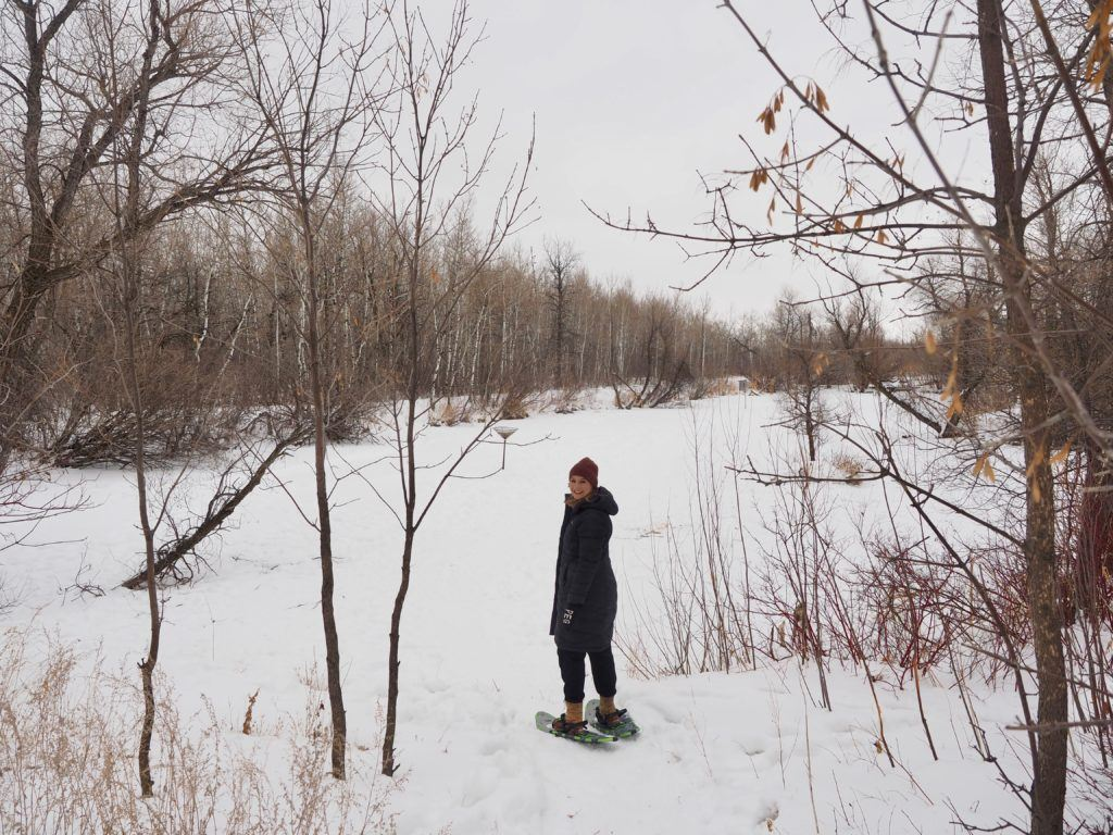 Winnipeg staycation - snoeshowing at Fort Whyte