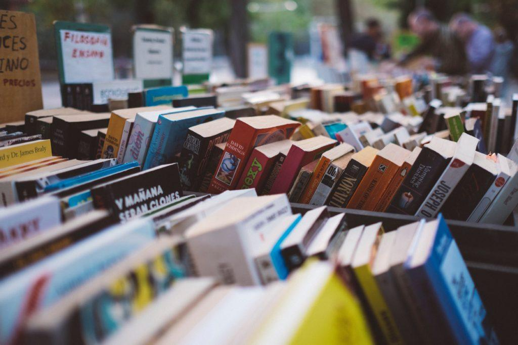 rows of used books