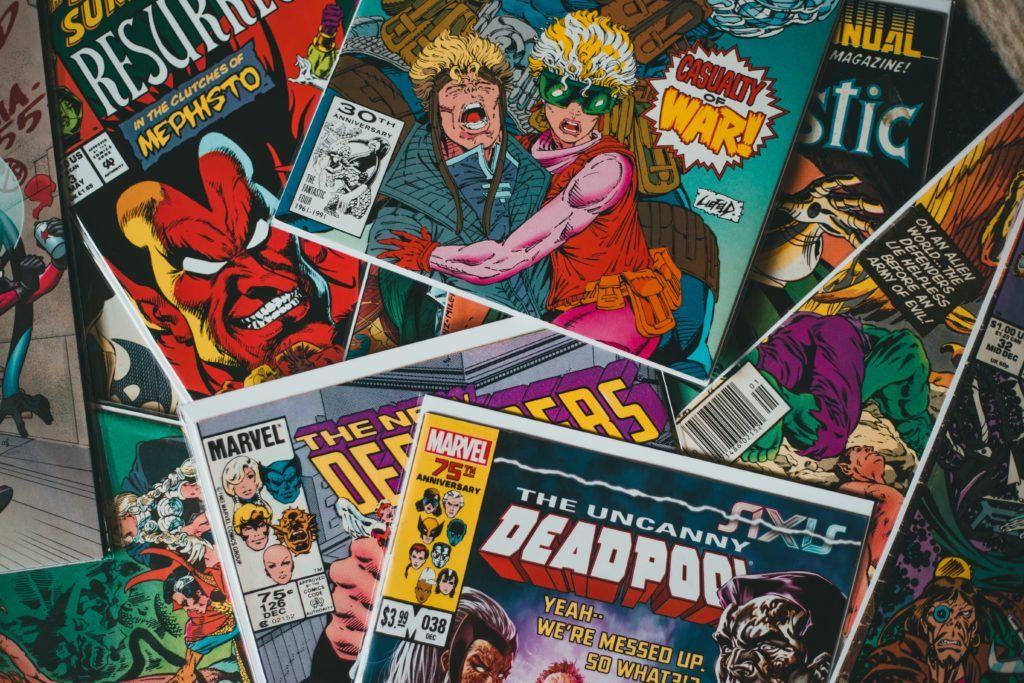 pile of comic books