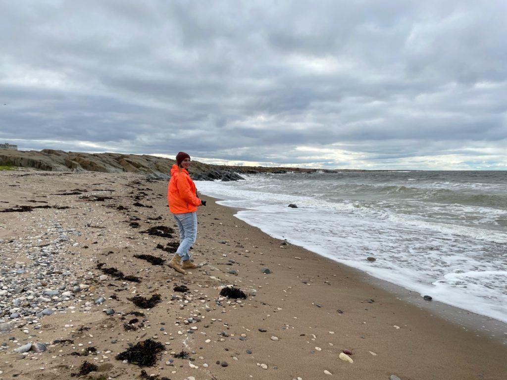 Brenna on beach in Churchill